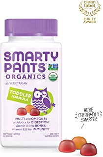 Daily Organic Gummy Toddler Multivitamin: Probiotic, Vitamin C, D3 & Zinc for..