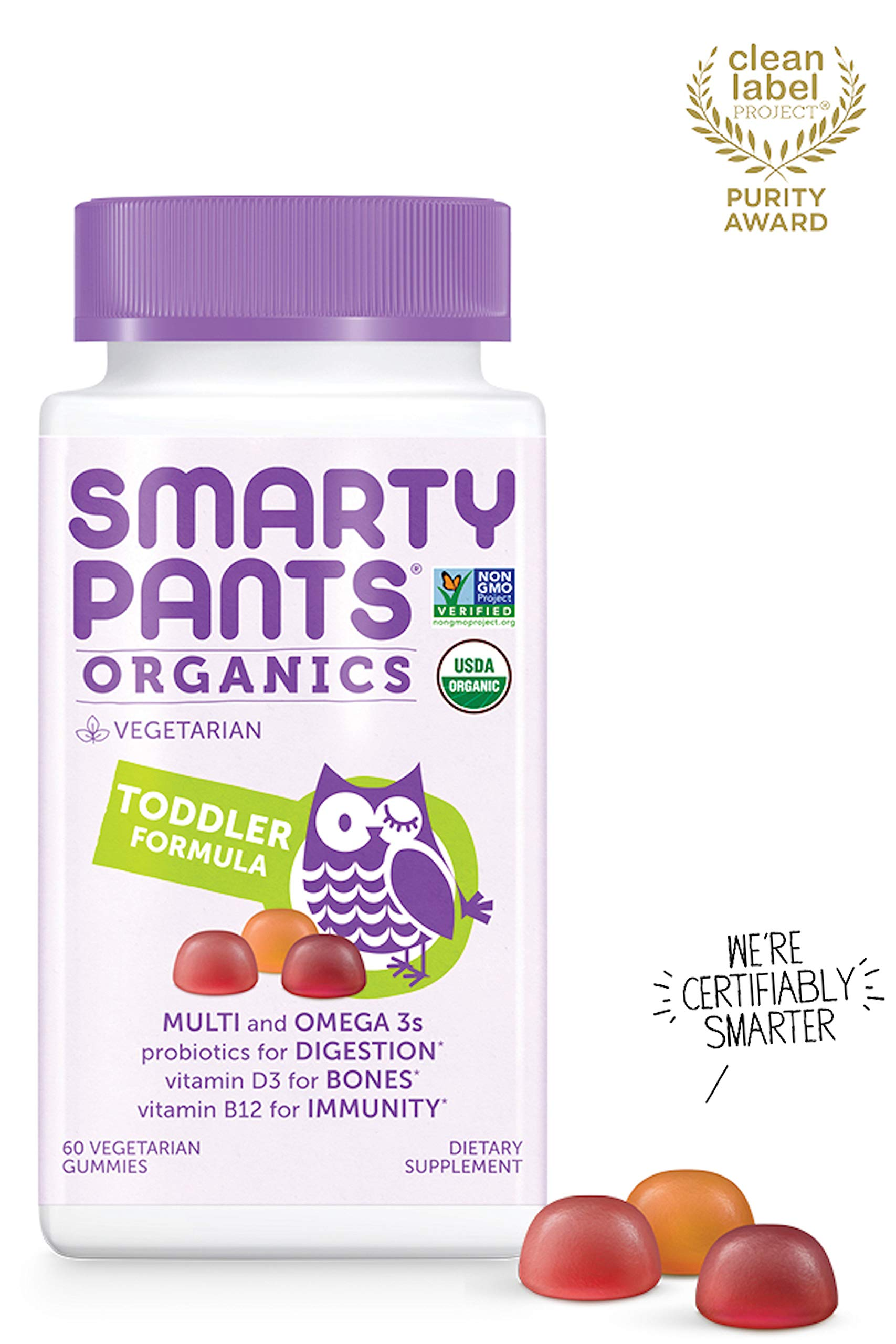 SmartyPants Vegetarian Organic Gummy Vitamins