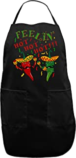 Feelin Hot Hot Hot Chili Peppers Adult Apron, Gift for Cooks and Chefs