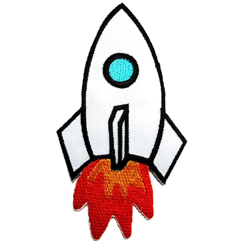 Iron on Patches Rocket for Kids