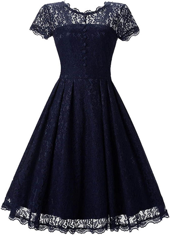 Rmesor Spring Lace aline Women Summer Party Dress oNeck aline Elegant Vintage Female Dresses