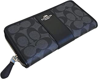 Coach Signature PVC Accordion Zip Around Wallet