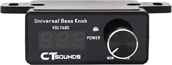 CT Sounds Universal Bass Knob - Digital Voltmeter, Blue LED Display, Remote Gain Control, Power Switch, Durable, Pushable ON/Off for Amp