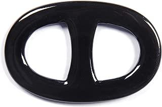 Size 6 Multicolor Buffalo Horn Scarf Ring H Oval Shape Scarf Ring Handmade 7x4.5 cm