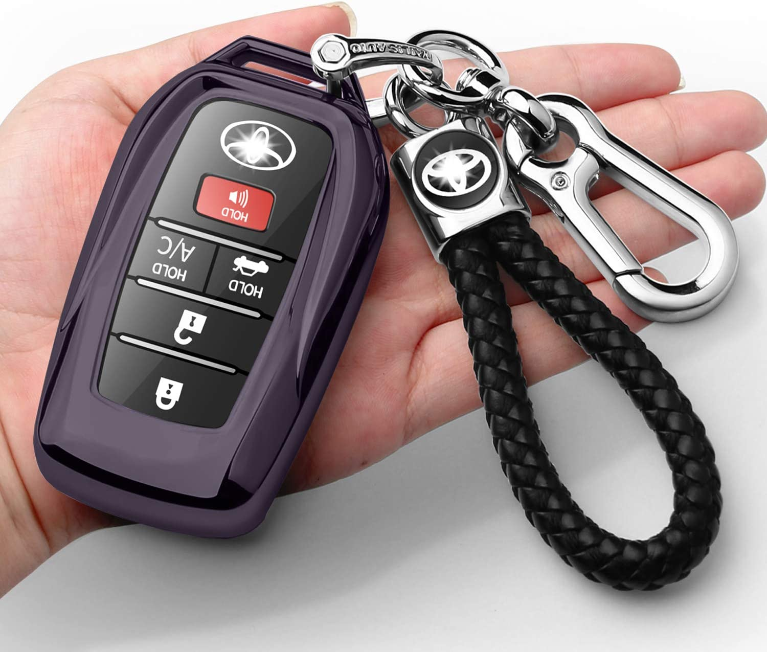 New Free Shipping Autophone Compatible with Toyota Max 46% OFF Key Cover keychain Fob Sof