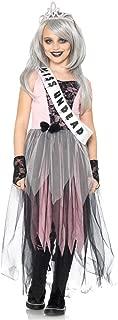 Leg Avenue Children's Zombie Prom Queen Costume, Medium, Pink/Black