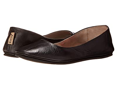 French Sole Sloop Flat (Black Nappa Leather) Women