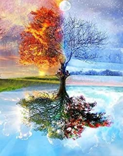 """DIY Paint by Numbers for Adults DIY Oil Painting Kit for Kids Beginner - Four Season Tree of Life 16""""x20"""""""