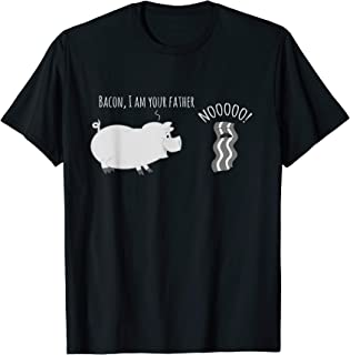Bacon I Am Your Father - Nooo! T-Shirt - Funny Pork Pig Tee