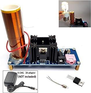 15W DC15-24v Pre-assembled No soldering required musical Tesla Coil Kit Arc Plasma Scientific Toy /Light up lamp/ Producing glowing arc/ Wireless Transmission Demonstration Desktop tesla coil speaker