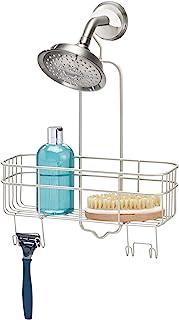 iDesign InterDesign Organiseur à suspendre avec crochet pivotant et panier de rangement pour salle de bain en satin mat Euro