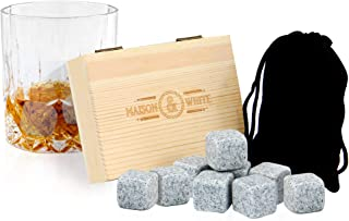 Set of 9 Whiskey Stones | Drinking Accessories | Drink Cooling Blocks | Whiskey Cooler | Gift Box Included | Gifts for Men...