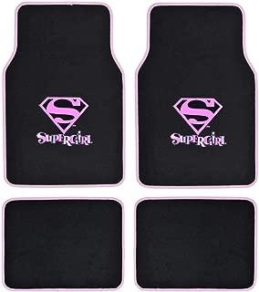 Supergirl DC Comics Logo Front & Rear Seat Car Truck SUV Carpet Floor Mats - 4PC