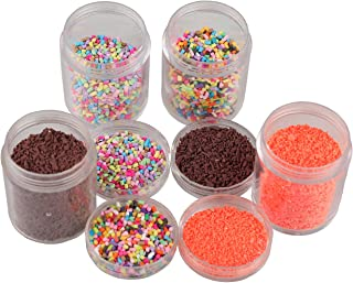 7 COLOR WINGS Colorful Fake Candy Sweets Sugar Sprinkles Decorations for Fake Cake Dessert Simulation Food (70G)