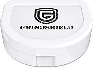 GRINDSHIELD Mouth Guard Case - Hygienic, Anti-Bacterial, Durable, Compact, Secure Container - Maximum Storage & Protection for Mouth Guards, Mouth Tray, Night Guard - Dental Grade Mouthguard Cases