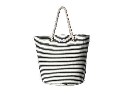 Roxy Sunseeker Tote Bag (Anthracite Marina Stripes) Handbags