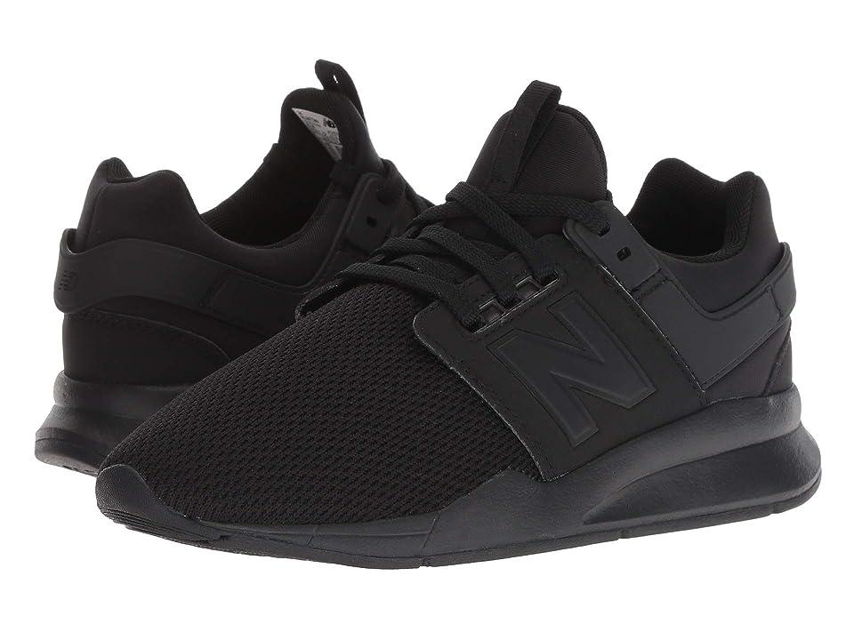 New Balance Kids KL247v2G (Big Kid) (Black/Black) Boys Shoes