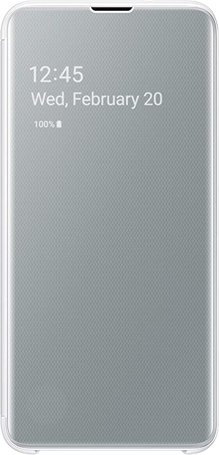 Clear View Cover For Galaxy S10e White Elektronik