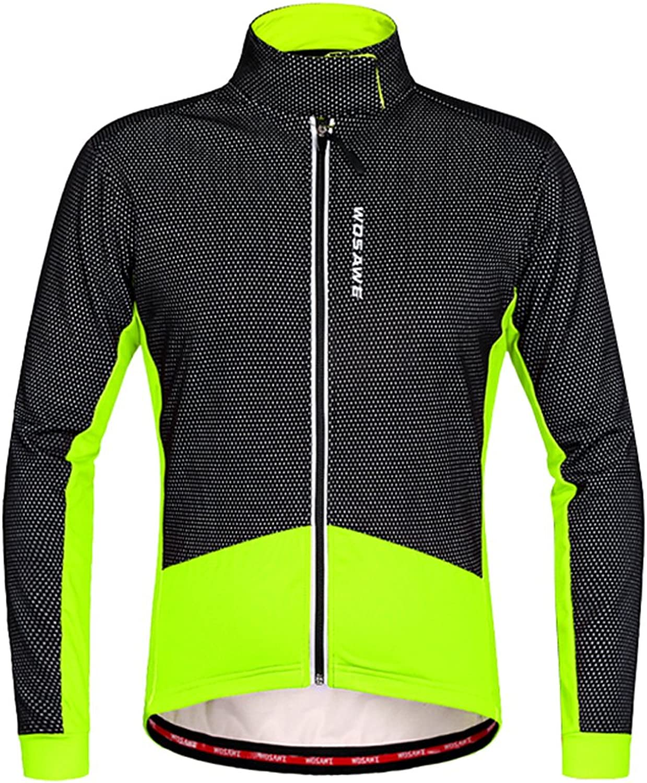 Baosity Winter Cycling Jackets Thermal Fleece Windproof Long Sleeve Jersey