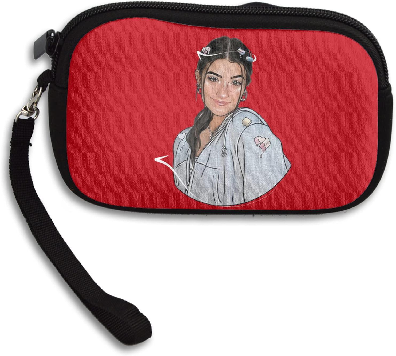 Charli Damelio Unisex Portable Neoprene All Smartphone Wristlet Wallet Clutch Purse, Coin Pouch