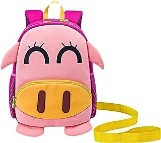 Mochila Infantil GUHEE Mochila con arnés Zoo Impermeable Bolso de Escuela Jardín de Infantes de Anti-Pérdida Mochila Los niños y niñas Mochila (Rosa Pig)
