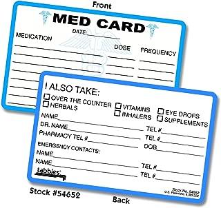 MED (Medical Emergency) Medical Alert Cards, 2-1/8