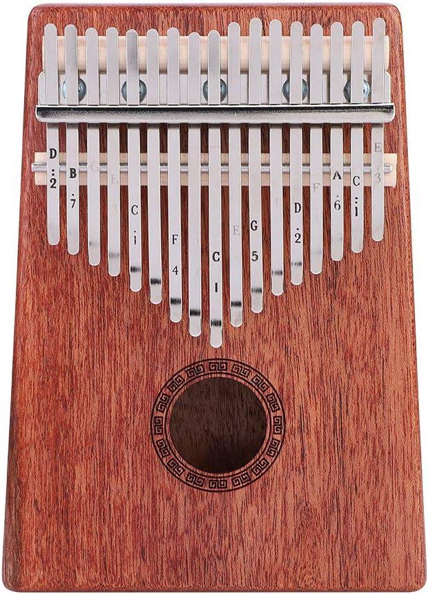 Moh Tampa Mall Thumb Piano 2021new shipping free shipping 17-Key Portable Kalimba Woo Mahogany
