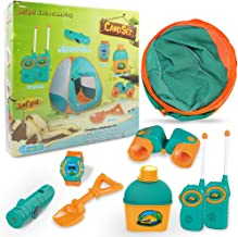 ZIXIZ 9 PCs Camping Gear for Adventure Set, Pop Up Tent with Camping Set for Kids, Indoor..