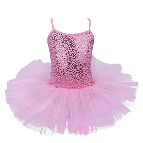5d35714c77 YiZYiF Girls Sequined Tutu Ballet Leotard Dance Dress Ballerina Fancy Fairy  Costume