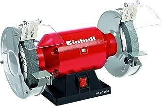 EBERTH 375 Watt Ponceuse /à bande et /à disque 150mm Disque de pon/çage, Hauteur de tablette r/églable, Pieds anti-vibrations