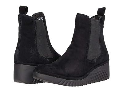 FLY LONDON LITA229FLY (Black Silky Leather) Women