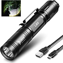 WUBEN 1200 Lumens LED Flashlight Rechargeable Torch Light Tactical Flashlight outdoor Flash light 5 Modes Super Bright Tor...