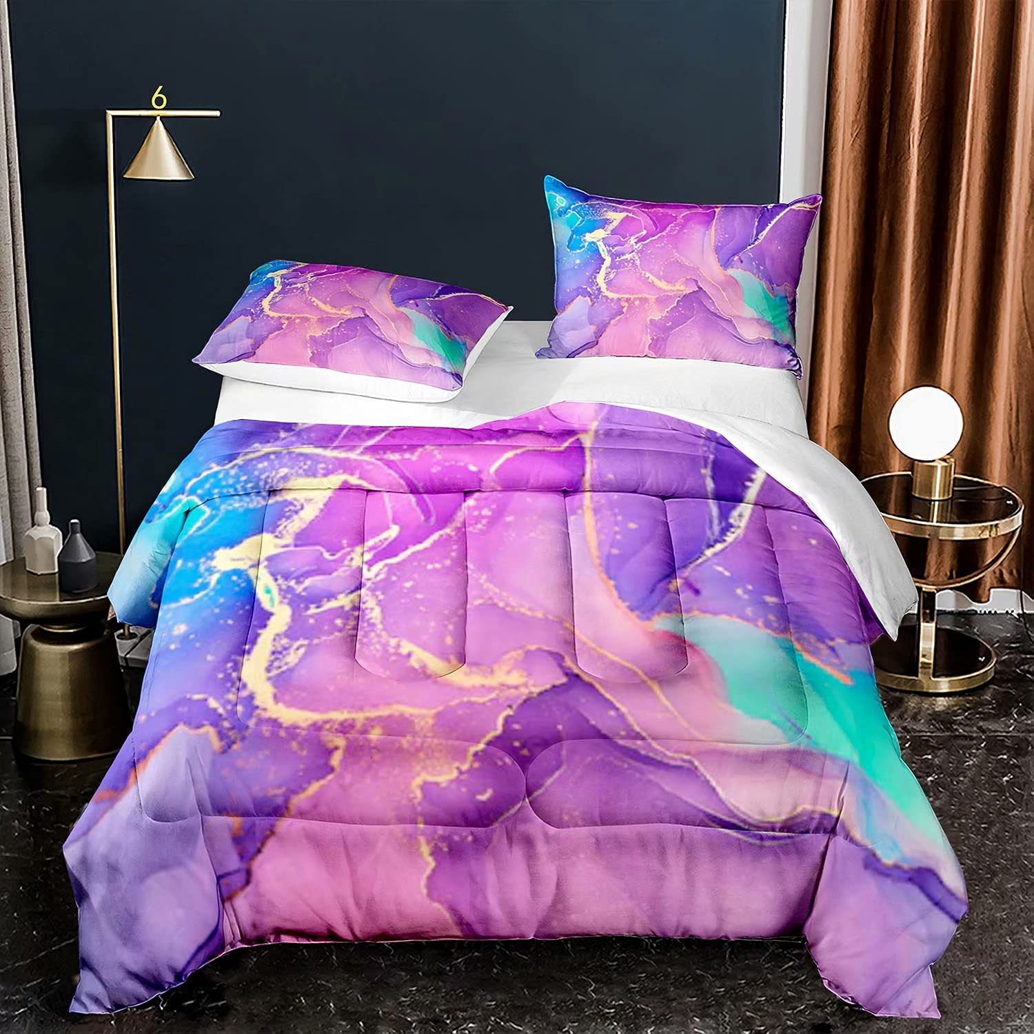 Satauly Marble Ranking TOP19 Comforter National products Sets Elegant Set Bedding Twin Marbling