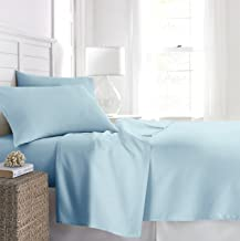 Luxe Boutique Hotel Collection Hypoallergenic Egyptian King Sheet and Pillow Case Set with Deep Pockets, Aqua