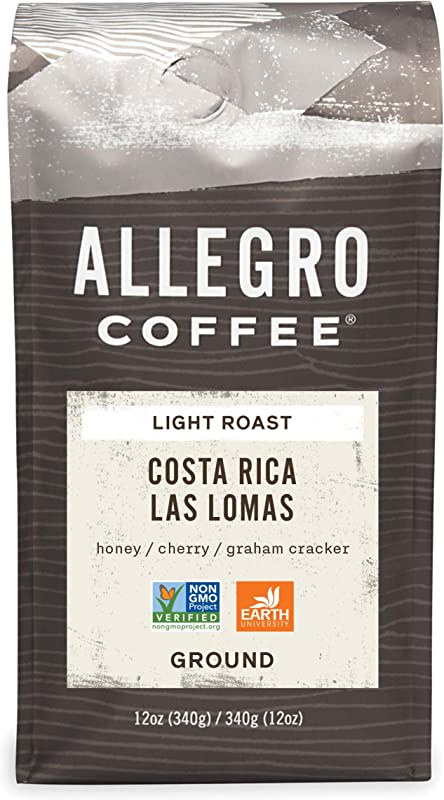 Allegro Coffee Costa Rica Las Lomas Ground Coffee 12 Oz