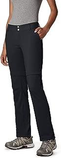 Columbia Women's Saturday Trail II Convertible Pant, Water & Stain Resistant, 10 Short, Black