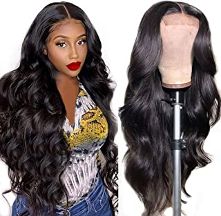 Crissel Body Wave Human Hair Lace Front Wigs for Black Women 100% Unprocessed Virgin Hair 4×4 Lace Closure Wigs Pre Plucke...