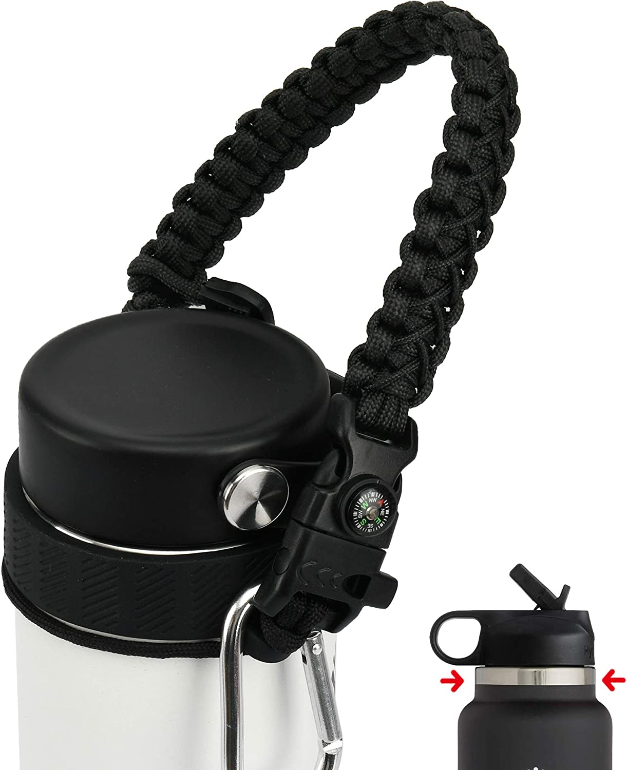 QeeCord 2.0 Paracord Handle for Hydroflask Wide Limited Special Price Standard M Ranking TOP11