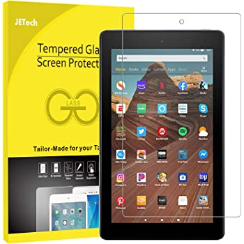 """JETech Screen Protector for Amazon Fire HD 10 Tablet 10.1"""" (7th / 9th Generation, 2017/2019 Release) and Fire HD 10 Kids Edition, Tempered Glass Film"""