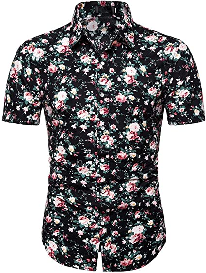 ZODOF Camiseta Hombre Manga Corta Casual, Camisas Hawaiana ...