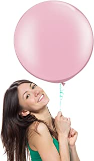 18 Inch (1.5 ft) Giant Jumbo Latex Balloons (Premium Helium Quality), Pack of 6, Round Shape - Baby Pink, for Photo Shoot/Birthday/Wedding Party/Festival/Event/Carnival