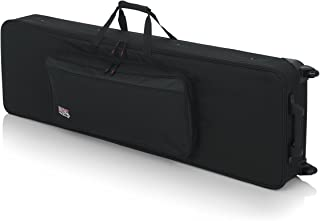 Gator Cases Lightweight Keyboard Case with Pull Handle and Wheels; Fits Slim 88-Note Keyboards (GK-88SLIM)
