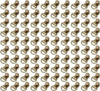 Crochet pour chaussure, 100 9x14mm ensembles de crochet lacet D boucle anneau œillets bronze en laiton rivet outil accesso...