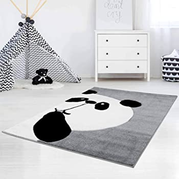 Naanle Animal Panda Bear Non Slip Area Rug for Living Dinning Room Bedroom Kitchen Panda Bear Black White Nursery Rug Floor Carpet Yoga Mat 2 x 3 ft 60 x 90 cm