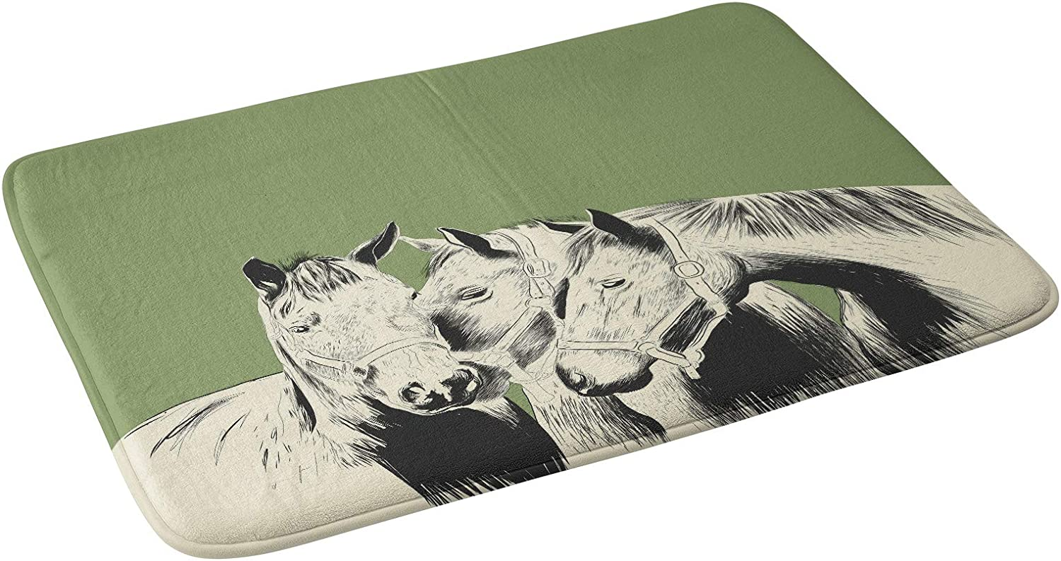 Society6 Large discharge sale 100% quality warranty! The Red Wolf Horses Bath Green Mat 21