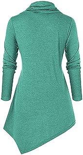 Ebelth_women Christmas Sweatshirt Cowl Collar Snowman Snowflake Print Long Sleeves Tops Blouse Pullover