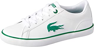Lacoste Lerond 318 2 Kids Fashion Shoes, WHT/GRN