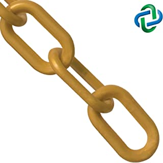 Mr. Chain Plastic Barrier Chain, Gold, 2-Inch Link Diameter, 25-Foot Length (50009-25)