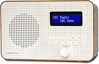 LEMEGA DR1 Portable DAB/DAB+/FM Digital Radio,Dual Alarms Clock,Kitchen/Sleep/Snooze Timer,20 Preset Stations, Headphones ...