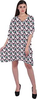 RADANYA Leaf Print Women's Cotton Kaftans Beachwear Bikini Cover Up Dress Caftan